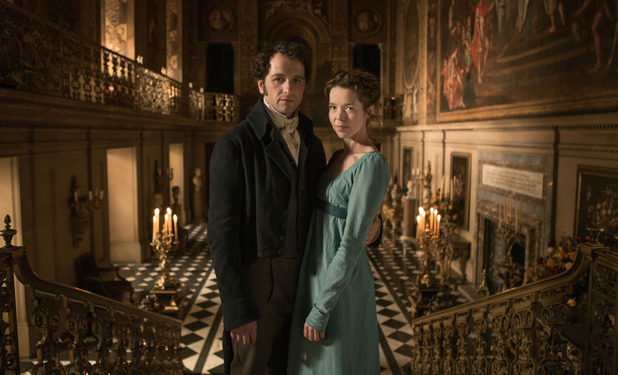 Matthew Rhys as Darcy and Anna Maxwell-Martin as Elizabeth in Death Comes to Pemberley