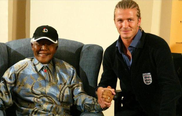 David Beckham meets Nelson Mandela in 2003
