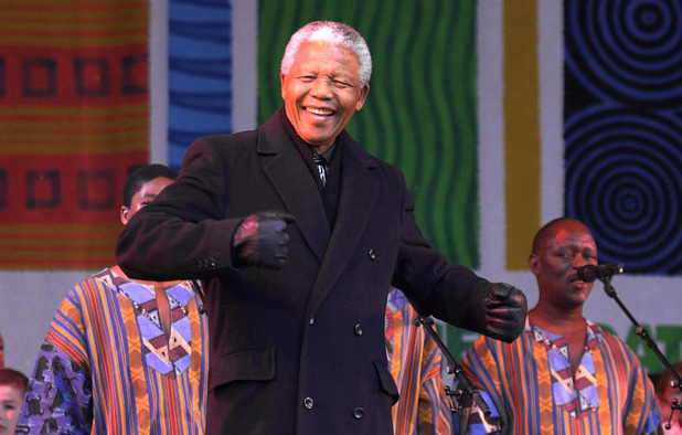 Ladysmith Black Mambazo with Nelson Mandela