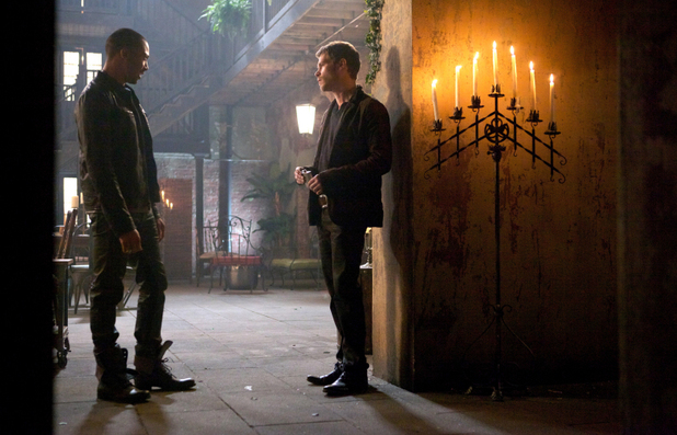 Charles Michael Davis as Marcel and Joseph Morgan as Klaus in The Originals: 'Reigning Pain in New Orleans'