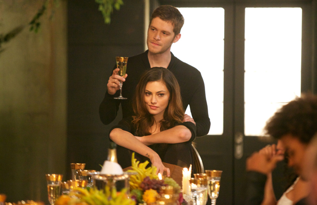 Joseph Morgan as Klaus and Phoebe Tonkin as Hayley in The Originals: 'Reigning Pain in New Orleans'