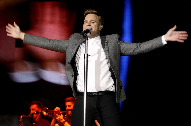 Olly Murs performing on stage during the 2013 Capital FM Jingle Bell Ball at the O2 Arena, London.