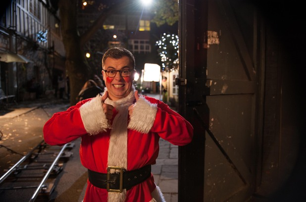 Joe Tracini behind the scenes at Hollyoaks