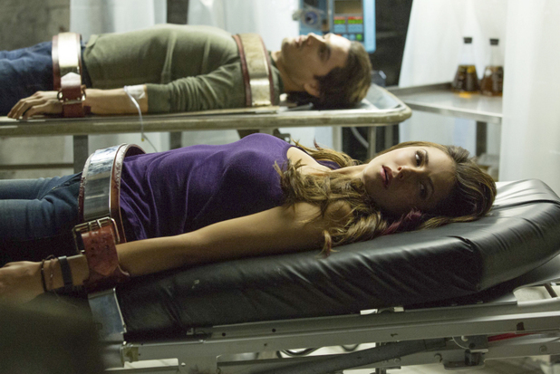Michael Malarkey as Enzo and Nina Dobrev as Elena in The Vampire Diaries: 'The Cell'