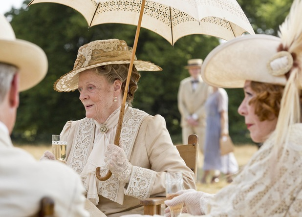 Maggie Smith as Dowager Countess, Violet in Downton Abbey Christmas Special