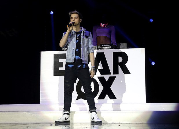 Elyar Fox performing on stage during the 2013 Capital FM Jingle Bell Ball