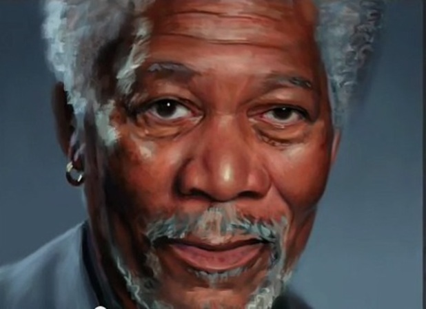Morgan Freeman iPad art