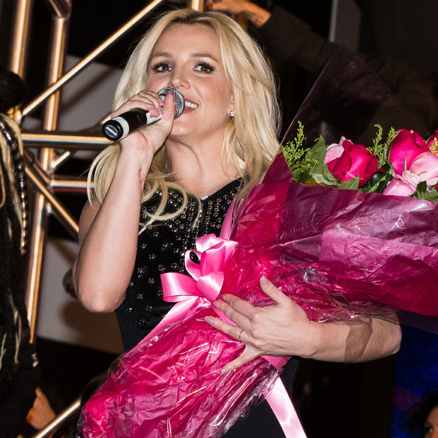 Britney Spears is welcomed to Planet Hollywood Resort in Las Vegas