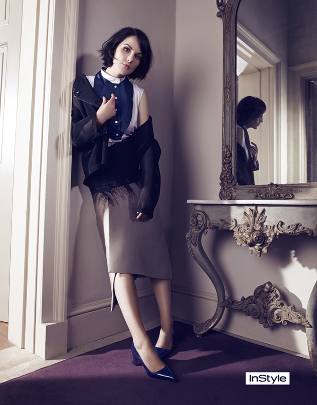 Downton Abbey's Michelle Dockery for InStyle
