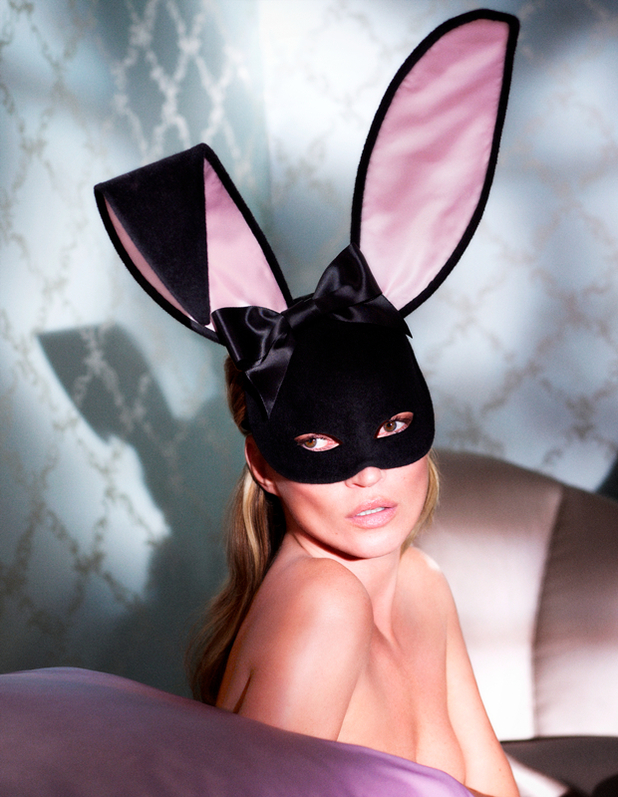 Kate Moss Bunny Ears by Mert Alas and Marcus Piggott for Playboy resized