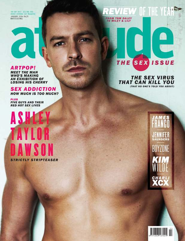 Ashley Taylor Dawson on the cover of Attitude magazine