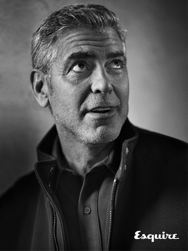 George Clooney in Esquire magazine