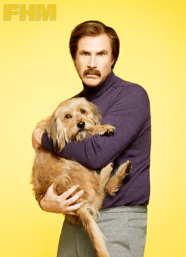 Will Ferrell celebrates the launch of Anchorman 2: The Legend continues with a photo shoot for FHM