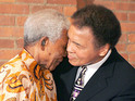 "Boxing legend says Nelson Mandela's spirit is ""soaring through the heavens""."