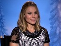 Kristen Bell screenshot from 'Frozen' video interview