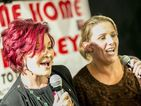 Sharon Osbourne duets with Sam Bailey ahead of X Factor Final
