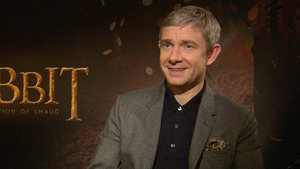 'The Hobbit: The Desolation of Smaug' stars Martin Freeman and Benedict Cumberbatch talk to DS about how their scenes together we filmed completely independently.