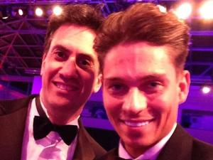 Ed Miliband poses with Joey Essex