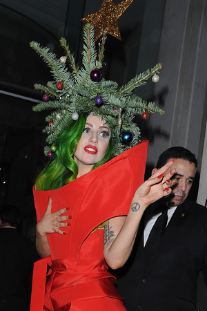 Lady Gaga christmas tree, London