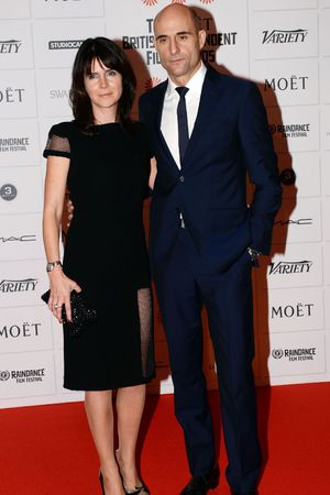 Mark Strong and wife Liza Marshall The Moet British Independent Film Awards 2013, London, Britain