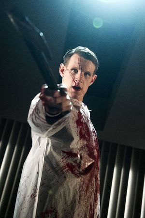 'American Psycho' play at the Almeida Theatre, London, Britain - 10 Dec 2013 Centre Matt Smith as Patrick Bateman 10 Dec 2013