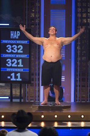 Hap's weigh-in during episode 9 of The Biggest Loser