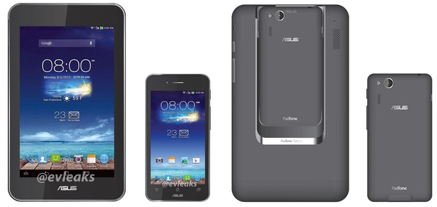 Purported photograph of the Asus PadFone mini