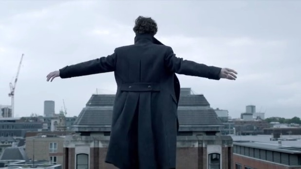 Benedict Cumberbatch as Sherlock in 'The Reichenbach Fall'