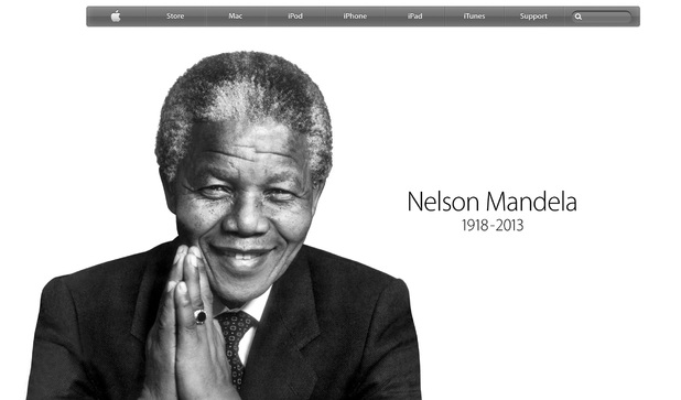 Apple's tribute to the late Nelson Mandela