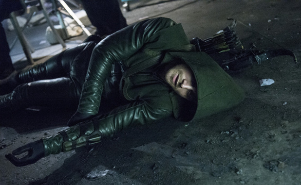 Stephen Amell as The Arrow in 'Arrow' S02E09: 'Three Ghosts'
