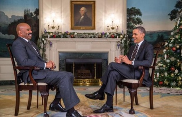 Steve Harvey interviews Barack Obama