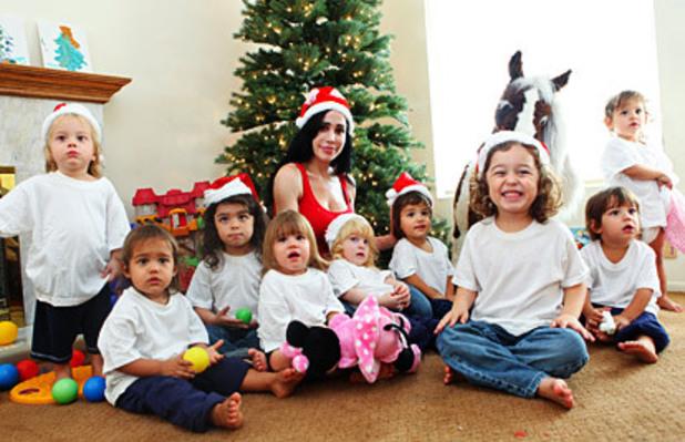 Nadya Suleman, Christmas card