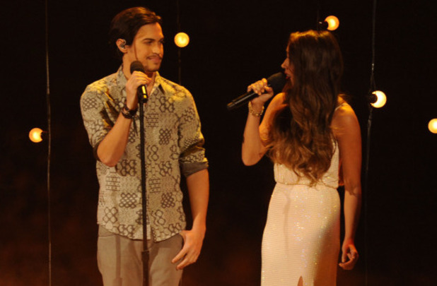 Alex & Sierra perform during The X Factor USA semi-finals
