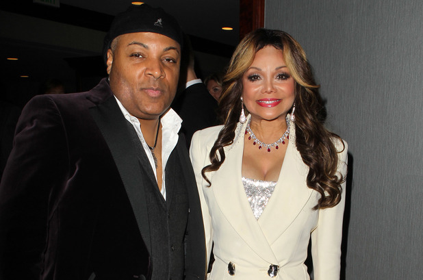 Jeffre Phillips and La Toya Jackson at the 20th Annual Race To Erase MS Gala