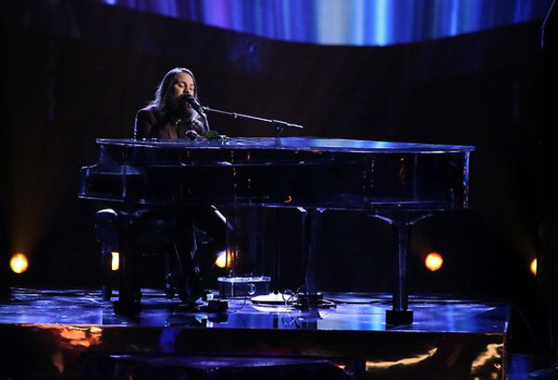 Cole Vosbury performs on The Voice semi-finals