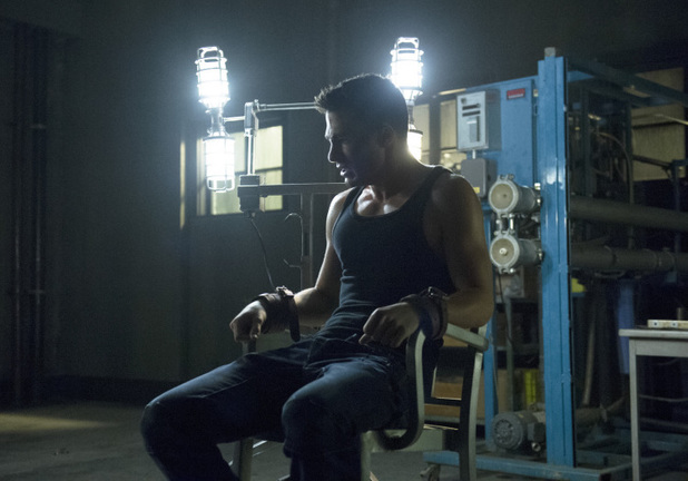 Colton Haynes as Roy Harper in 'Arrow' S02E09: 'Three Ghosts'