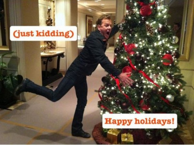Kiefer Sutherland, Christmas card