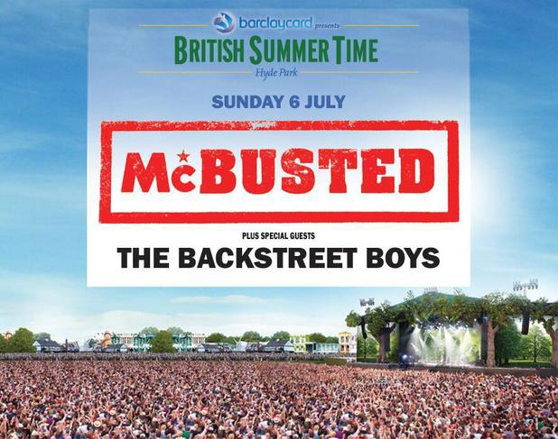 McBusted British Summer Time concert poster