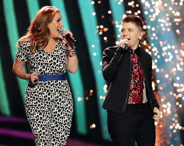 Sam Bailey and Nicholas McDonald