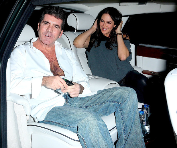 Simon Cowell, Lauren Silverman leave BOA Steakhouse in West Hollywood