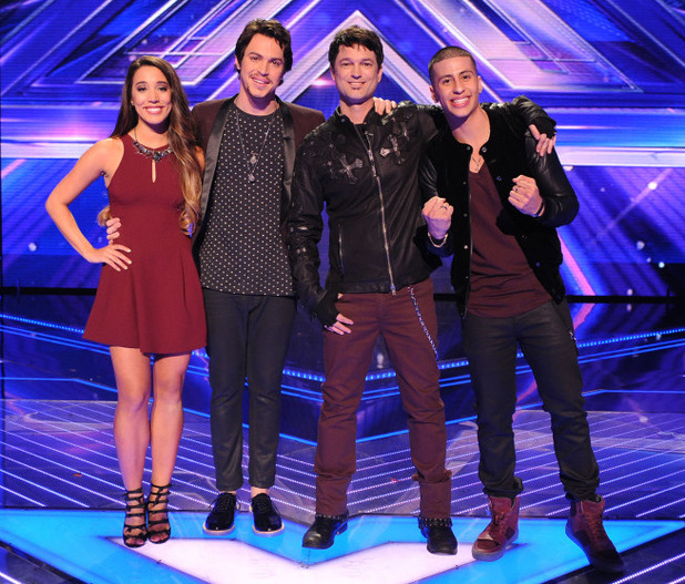 The X Factor USA top 3 finalists: Alex & Sierra, Jeff Gutt and Carlito Olivero