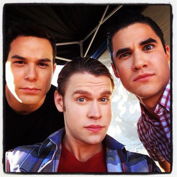 Skylar Astin with Chord Overstreet and Darren Criss