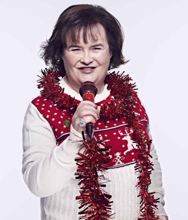 Susan Boyle in a Christmas Jumper