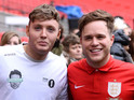 Rizzle Kicks, Mark Wright and John Bishop also compete in the game at Wembley.