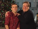 John Goodman and SNL star Taran Killam sing boisterous Christmas carols.