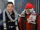 Jimmy Fallon braves the New York snow for Saturday Night Live - video