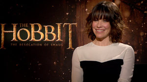 Evangeline Lilly, Richard Armitage and Luke Evans 'The Hobbit: Desolation of Smaug'