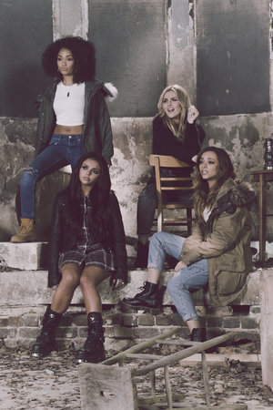 Little Mix 'Little Me' BTS shot.