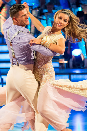 Abbey and Aljaz dance their favourite dance.