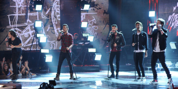 One Direction perform on The X Factor final results show